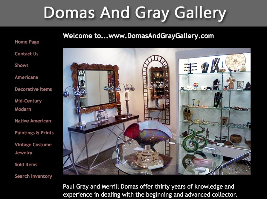 Domas and Gray Gallery Website Design