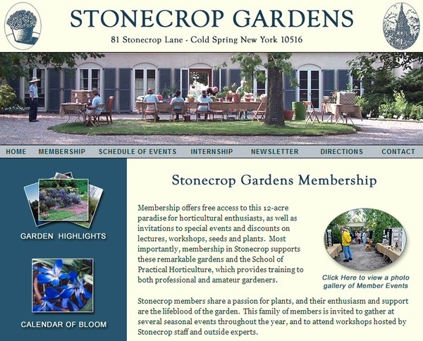 Stonecrop Gardens Website Development