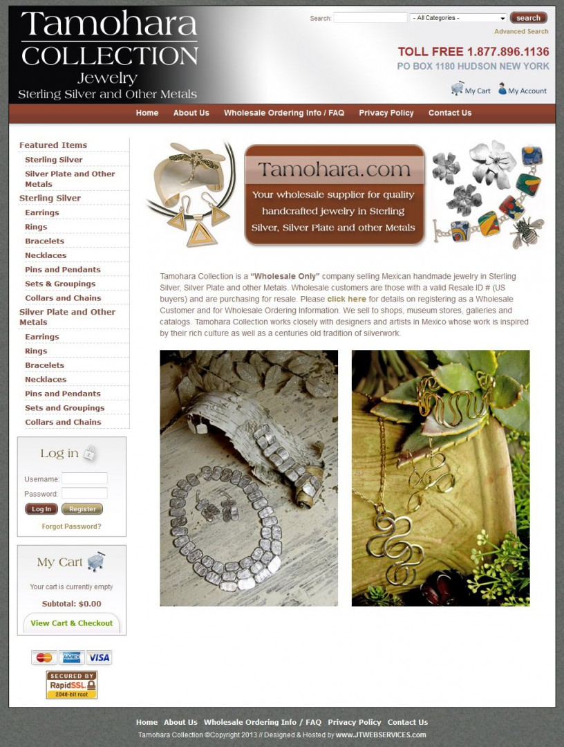Tamohara Jewelry Website Development