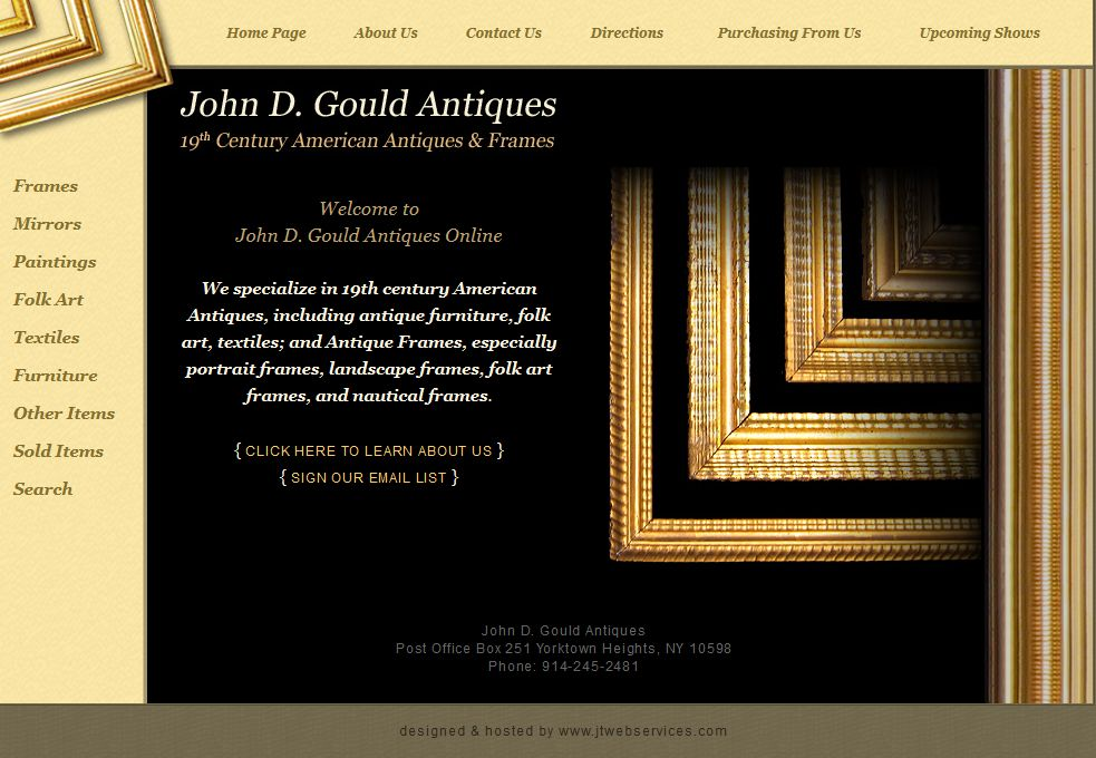 John Gould Antiques Website Design
