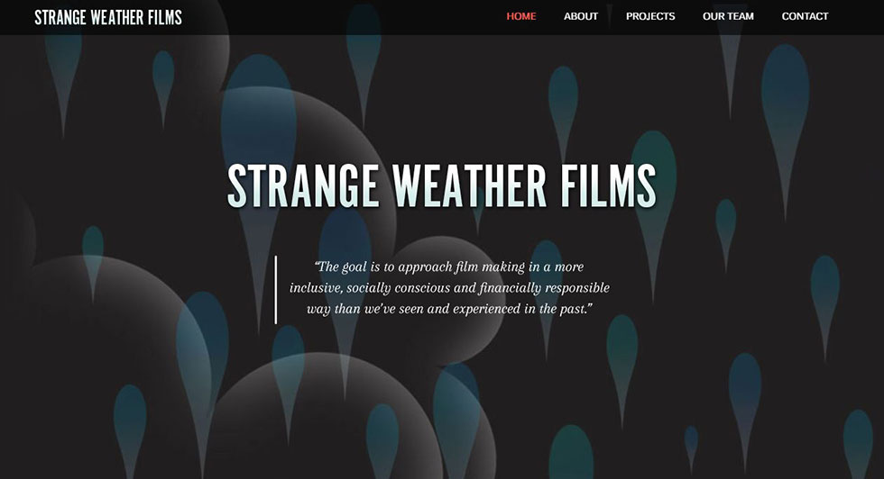 Strange Weather Films Website Redesign