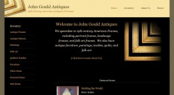 Website redesign project for John Gould Antiques