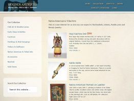 Website Redesign Project for Holden Antiques