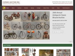 Website Redesign for Copake Auction Inc.