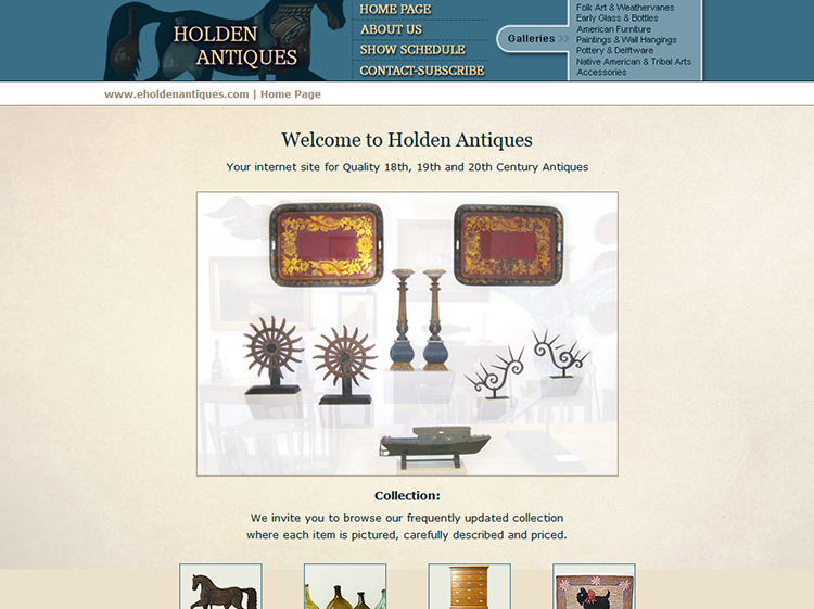 Holden Antiques Website Development