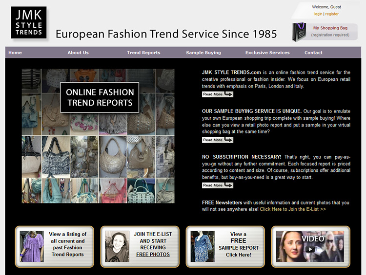 JMK Style Trends – Website Development