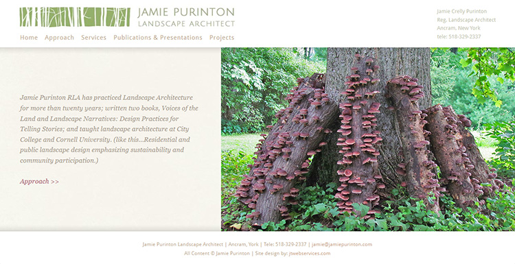 Jamie Purinton Landscape Architect Website