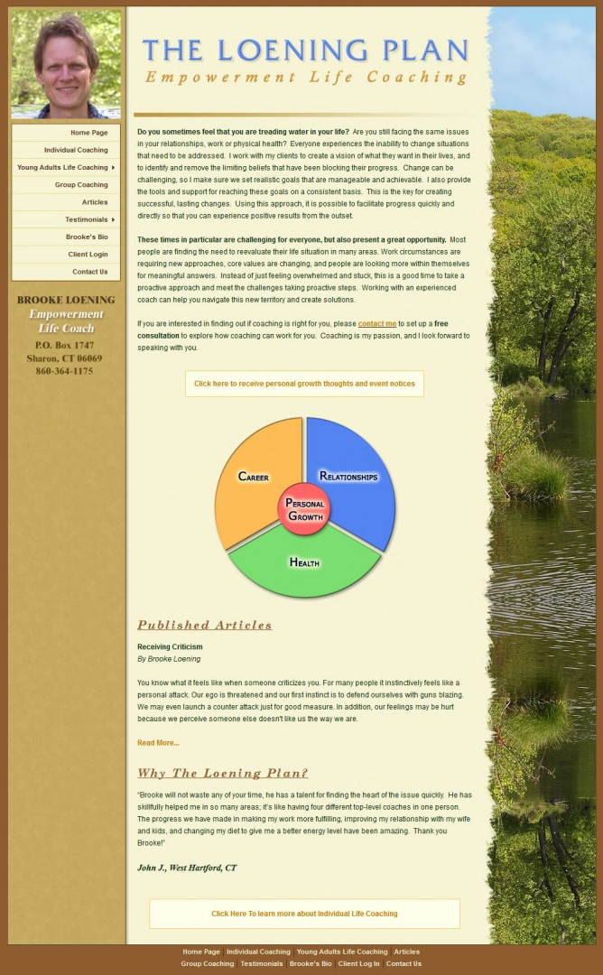 The Loening Plan Website Design