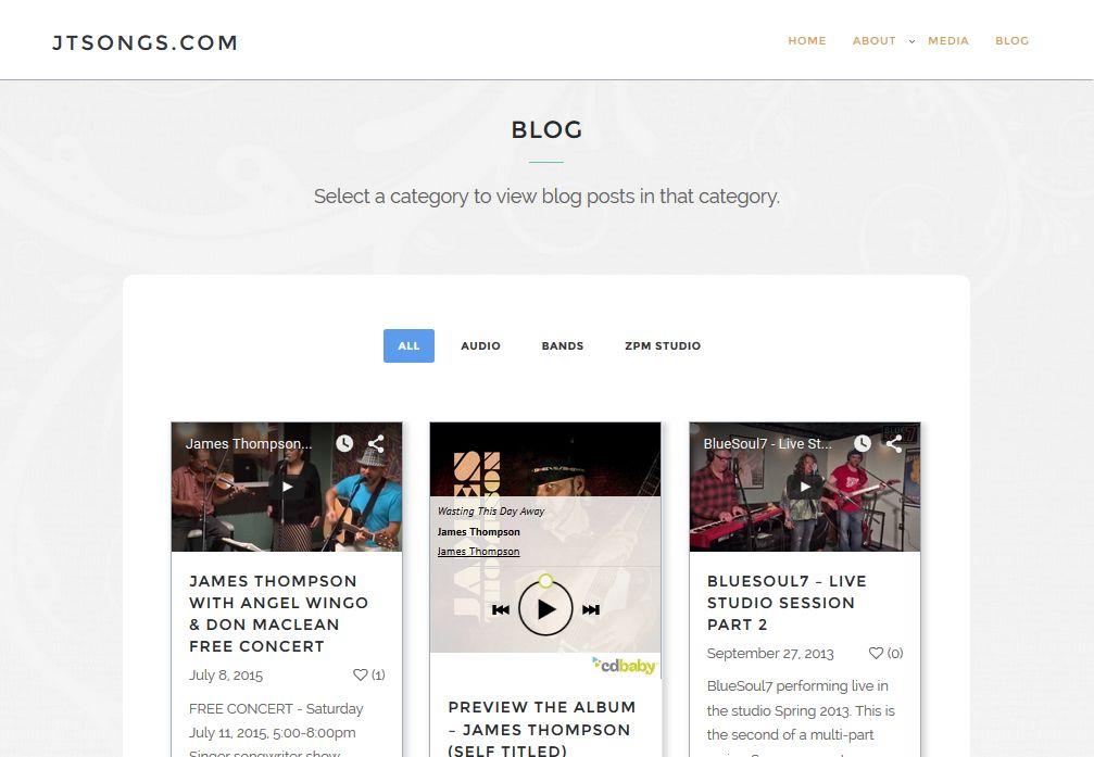Website Design for JTSONGS.com