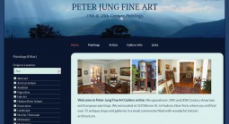 Peter Jung Fine Art Website Redesign