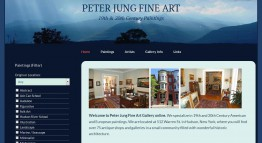 Peter Jung Fine Art Website Redesign