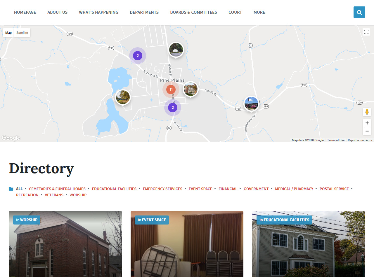 Town of Pine Plains, New York Website Development